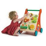 chariot de marche et dactivités tender leaf toys - jouet en bois
