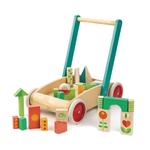 Chariot de marche avec 29 blocs colorés tender leaf toys
