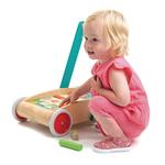 Chariot de marche avec 29 blocs colorés - enfant