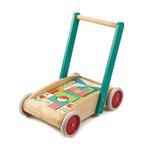 Chariot de marche avec 29 blocs colorés