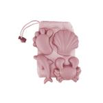 Set de 4 moules de plage en silicone vieux rose - Scrunch