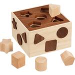 boite à forme goky nature - jouet en bois