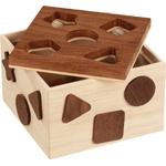 boite à forme goky nature  - jouet en bois  à partir de 1 an