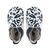 chaussons bobux abstrait marine et blanc