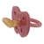 Tétine physiologique fleur couleur framboise Hevea
