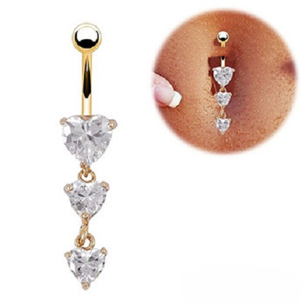 Body-Piercing-Gold-Navel-Rings-3-Heart-Crystal-Clear-Dangle-Belly-Button-Rings-1QEN.jpg_350x350