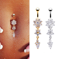 Piercing Flocon de neige Strass