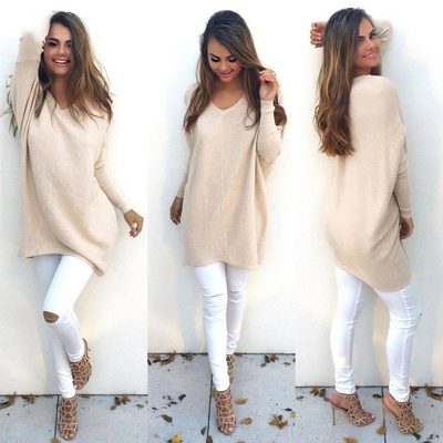 Pull Tunique beige clair taille S