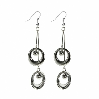 Boucles d oreille suspension argenté
