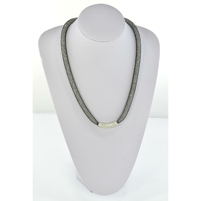 collier top mode resille tube strass 55 cm 64491(1)