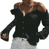 Womail-Sexy-Off-paule-Chemises-Femmes-V-cou-Manches-Longues-Auttmn-Chemise-Tops-Streetwear-Style-Pur