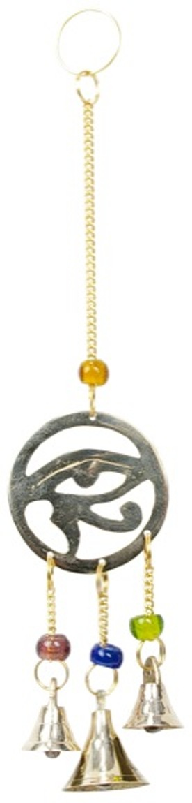 Mobile 3 Cloches - Oeil d\'Horus en laiton
