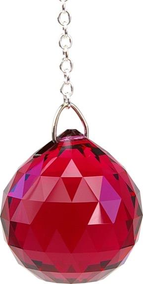 Boule de Cristal à facettes 30 mm Bordeaux : Muladhara