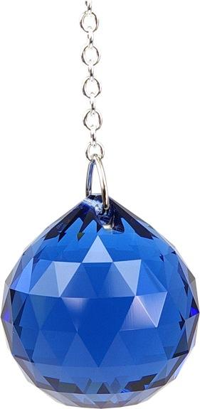 Boule de Cristal à facettes 30 mm Saphir Dark : Ajna