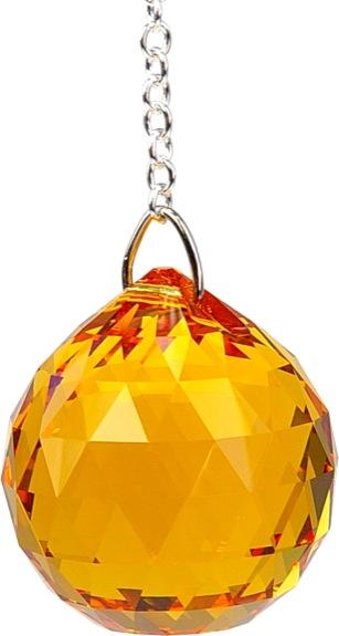 Boule de Cristal à facettes 30 mm Topaze : Svadhistana