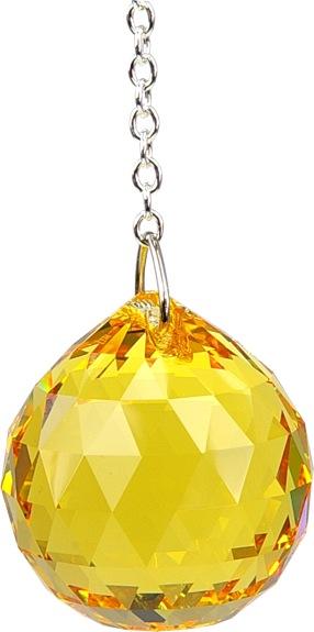 Boule de Cristal à facettes 30 mm Topaze Light : Manipura