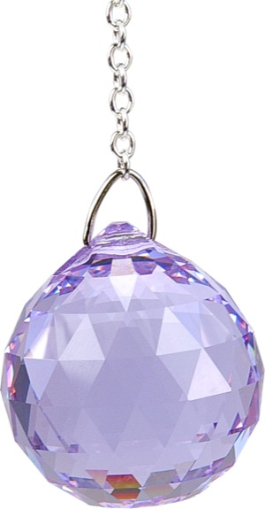Boule de Cristal à facettes 30 mm Violet : Sahasrara
