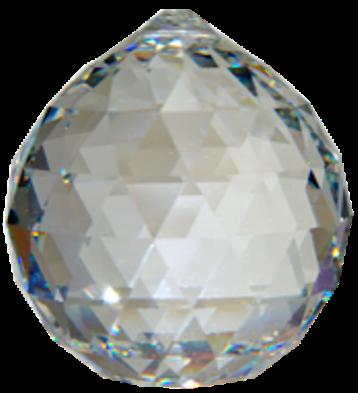 Boule de Cristal à facettes 40 mm