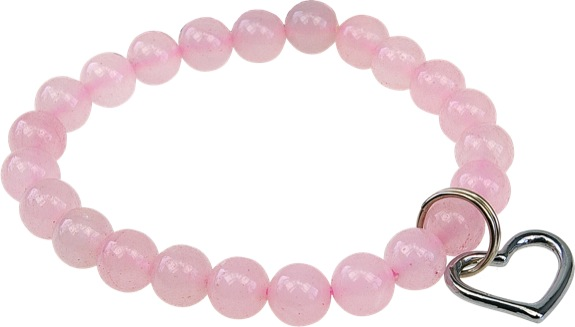 Bracelet Art de la  Chance en Quartz rose
