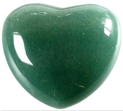 Coeur Aventurine verte 45 mm - La pièce