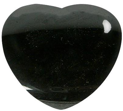 Coeur Tourmaline noire 45 mm - La pièce
