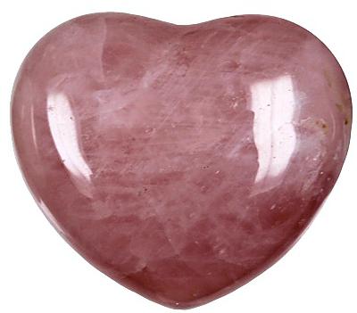 Coeur Quartz Rose 45 mm - La pièce