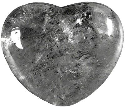 Coeur Cristal de Roche 45 mm - La pièce
