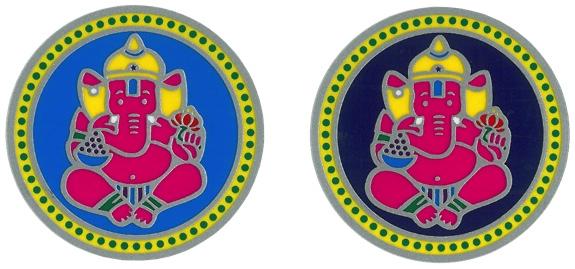 Autocollant Attrape Soleil - Ganesh - Lot de 2
