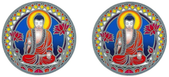 Autocollant Attrape Soleil - Bouddha Nature - Lot de 2