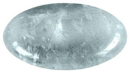 Galet Cristal de Roche ( 3,5 x 4 cm )