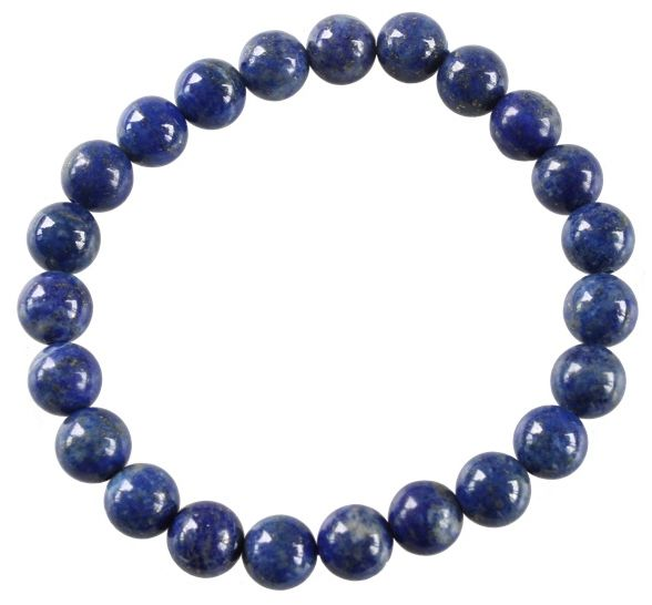 Bracelet Lapis Lazuli Perles Rondes (8 mm)