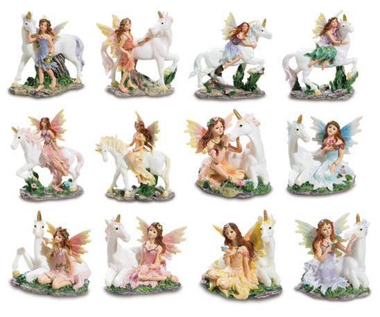 Figurines du Monde des fées et licornes