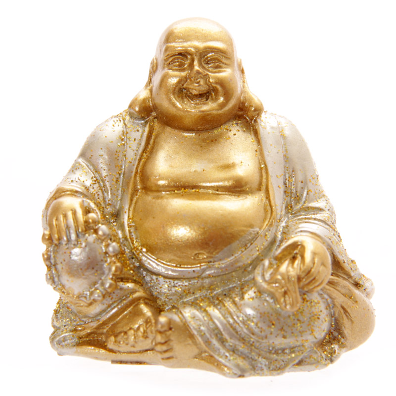 Mini Bouddhas Porte-Bonheur, Argent (A)