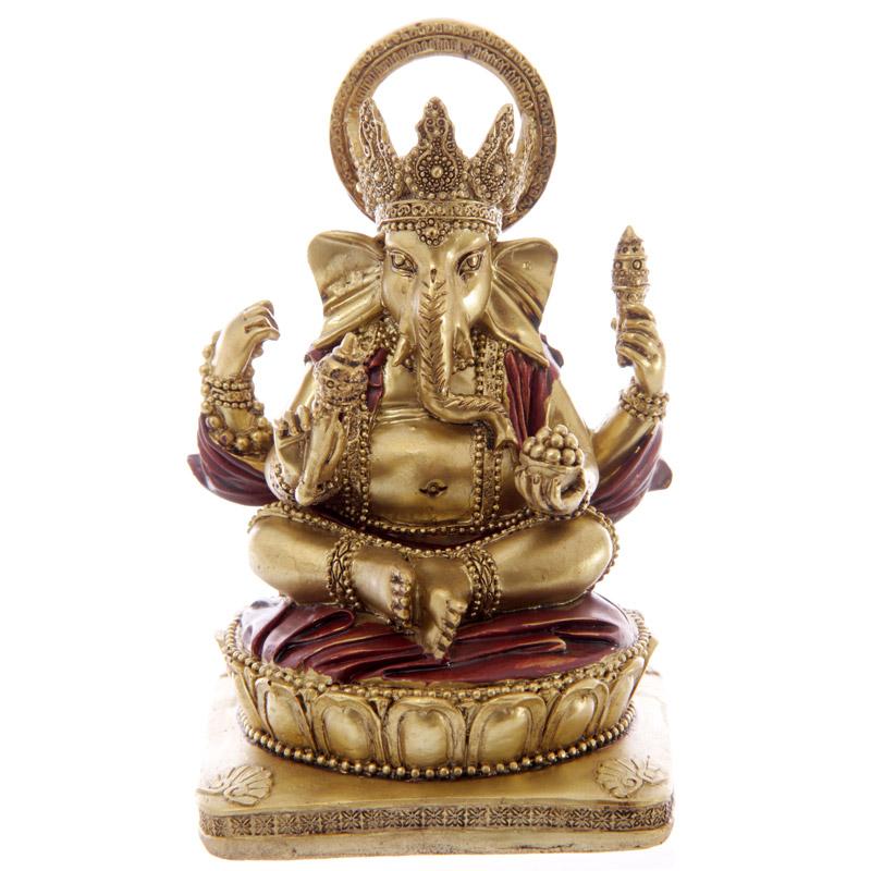 Statue Ganesh Rouge 14cm