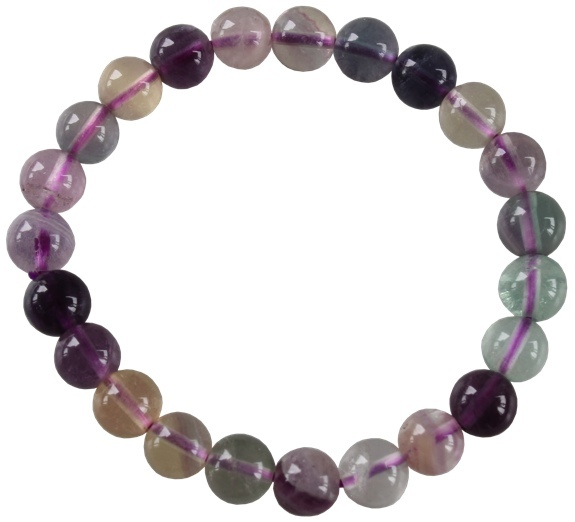 Bracelet Fluorite Perles Rondes (8 mm)