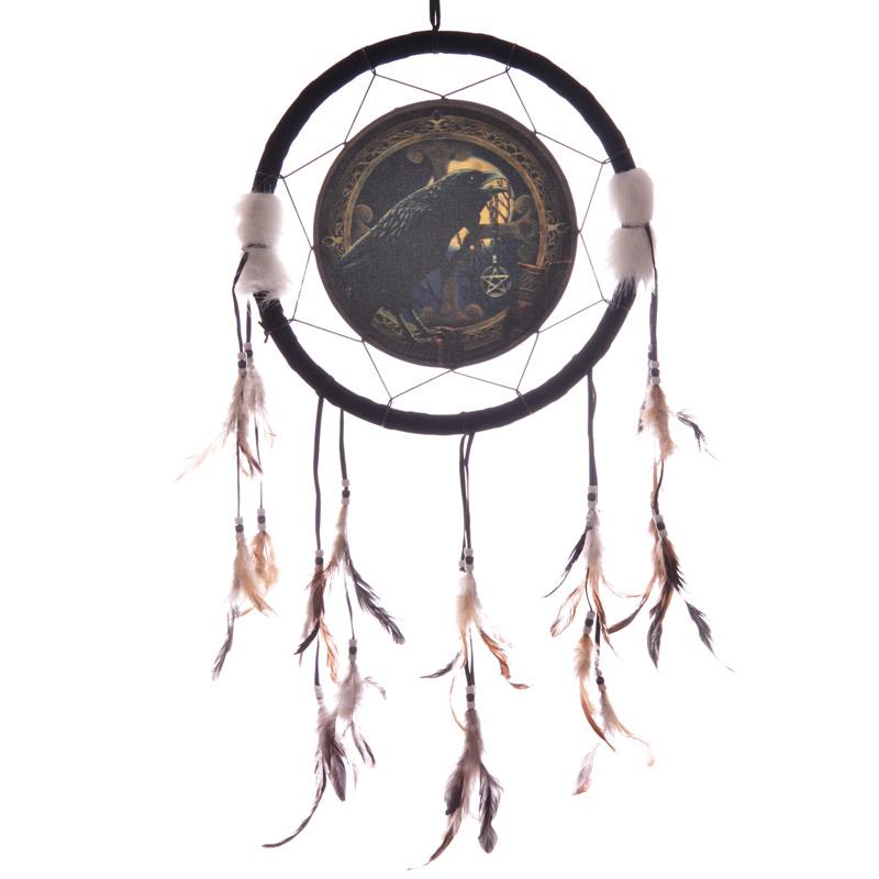 Attrape-rêves Corbeau Par Lisa Parker 33cm