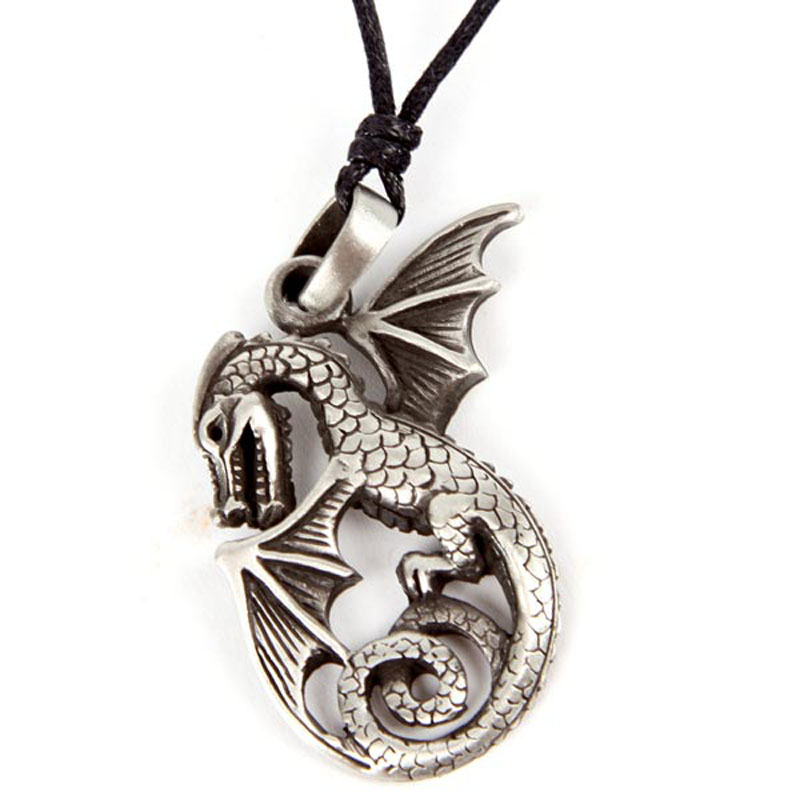 Pendentif Dragon Etain - L\'envol