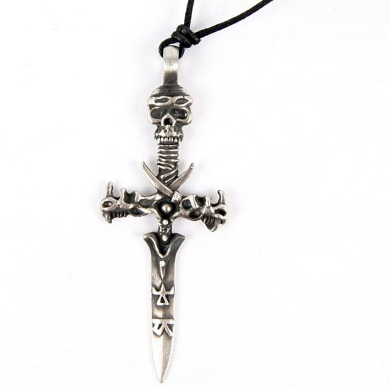 Pendentif Epée Etain - gothique