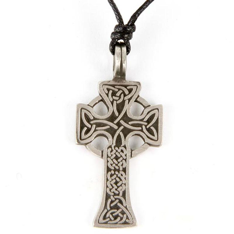Pendentif Croix Celtique Etain - A