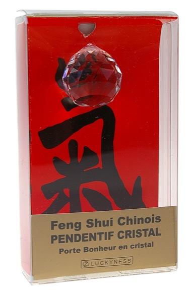 Porte-bonheur Feng-shui - Pendentif cristal