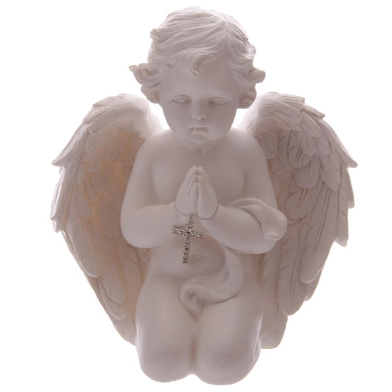 Chérubin en train de prier avec croix - Chérubin de 16.5 cm