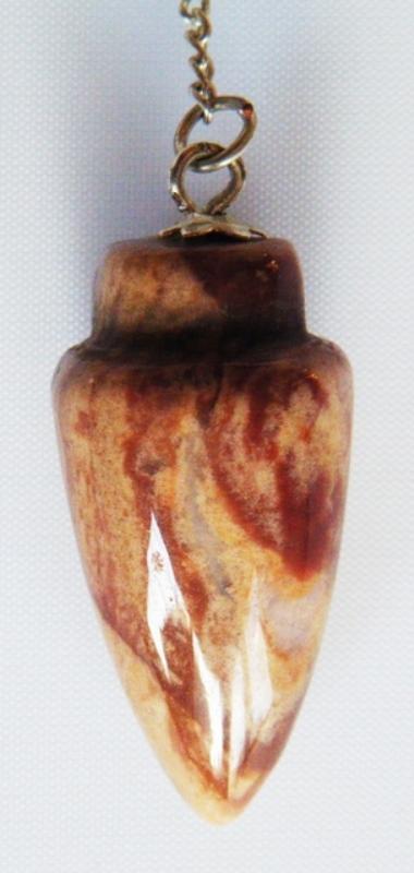 Pendule Cône pierre jaspe polychrome