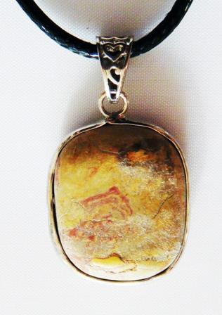 pendentif jaspe arc en ciel 925-1