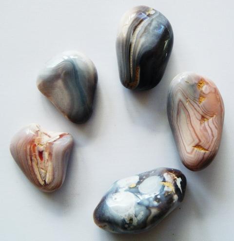 Agate de Botswana, pierre roulée