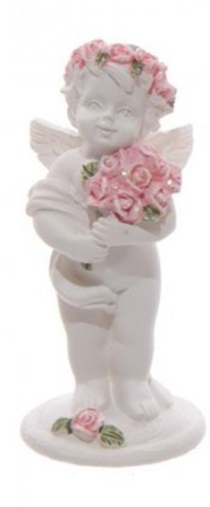 Chérubin tenant un bouquet de roses A