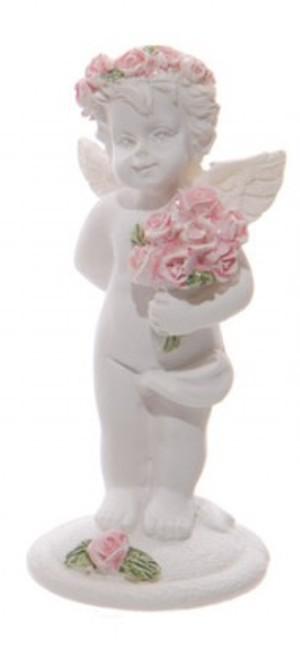 Chérubin tenant un bouquet de roses (D)