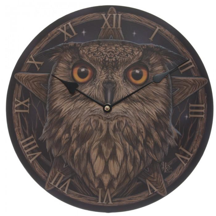 Horloge ronde - Grand Duc par Lisa Parker