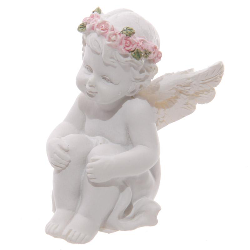 Chérubin assis avec un bouquet de roses (C)