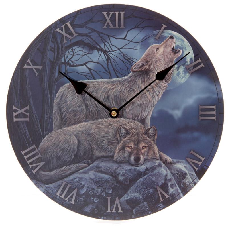 Horloge Imprimée - Couple Loups par Lisa Parker