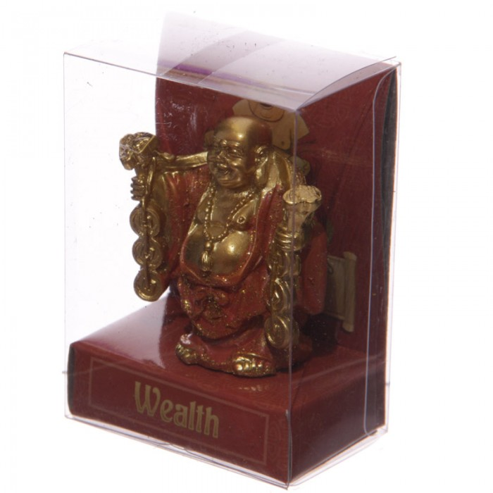 figurine bouddha porte bonheur orange a statuettes et figurines bouddhas arc en ciel. Black Bedroom Furniture Sets. Home Design Ideas